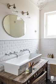 Two Faucet Trough Bathroom Sink by Bathroom Elegant Trough Bathroom Sink With Two Faucets Nu