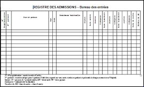 bureau des entr馥s registre des admissions bureau des entrées