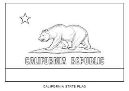 California State Flag Coloring Page Firstleap