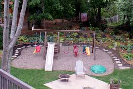 Playset With Pea Gravel - Create A Walkway All The Way Around ... Exterior Design Beautiful Backyard Landscaping Ideas Plan For Lawn Garden Pleasant Japanese Rock Go With Gravel For A You Never Have To Mow Small Stupendous Modern Gardens Garden Design Coloured Path Easy Backyards Winsome Decorative Design Gardening U The Beautiful Pathwaysnov2016 Gold Exteriors Magnificent Patio With Rocks And Stones