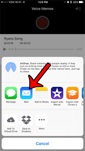 How Can I Send a Voice Memo as an Email from my iPhone 7 Solve