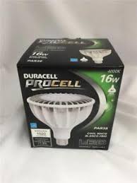 duracell procell cool white led light bulb 4000k 16w par38 10843a