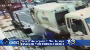 Investigating After Sanitation Worker Appears To Steal Package « CBS ... Recycle Garbage Truck Simulator 2014 Promotional Art Mobygames Dump Video For Kids L Lots Of Trucks Youtube Outofcontrol In Brooklyn Cbs New York Camera Captures Bear On Top Of Trash Truck 6abccom Watch Garbage Eat An Entire Car Cnn Explodes In Hamilton Jersey Abc7nycom 2019 Western Star 4700sb Trash Walk Around At Dickie Toys Backing Up Vimeo