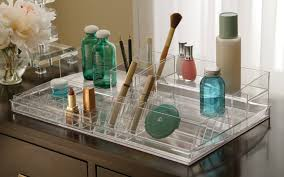 Makeup Holders And Organizers Cosmetic Organizer Countertop Clear