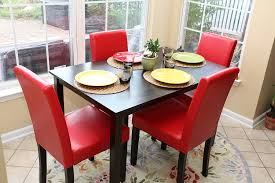 5 Piece Formal Dining Room Sets by Amazon Com 5 Pc Red Leather 4 Person Table And Chairs Red Dining