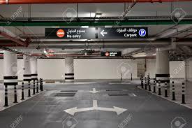 At The Basement Parking Carpark With Signboard And DetailsDubai United Arab Emirates