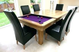 Beautiful Kitchen Pool Table Combo Dining