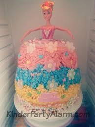 blumenbarbie glutenfrei kindergeburtstag torte