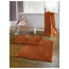 bamboo towel set burnt orange by nine space tesco pedestal