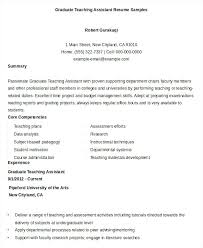 Free Teacher Resume Graduate Teaching Assistant Experience In Lovely Word Documents Download Format