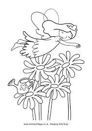 Garden Fairy Colouring Page
