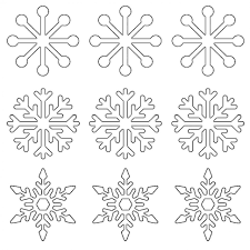 Coloring PagesPrintable Snow Flakes Snowflake Gift Tags 1024x1024 Pages Printable