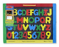 amazon com melissa u0026 doug magnetic chalkboard and dry erase board