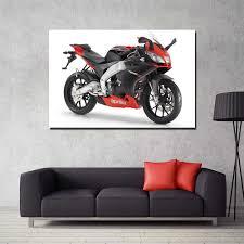 aprilia rs4 125 motorrad poster wand kunst bilder für wohnzimmer leinwand gemälde für wohnkultur
