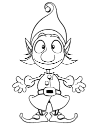 Christmas Elf Coloring Pages For Kids