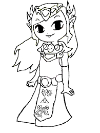 Zelda Coloring Pages Toon
