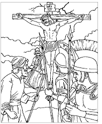 Lectionary Year C Christ The King Sunday Luke Crucifixion Coloring Page