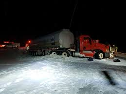 100 Tanker Truck Crash Plow Accident Closes Portion Of US 127 Tuesday Night