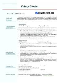 Payroll Manager Resume Sample Sampleenior Executive Image