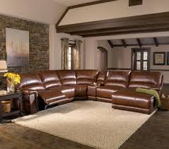 Decoro Leather Furniture Company by Collection In Reclining Leather Sectional Sofa Black Leather