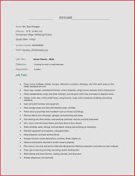Sample Of Resume Cover Letter Guamreview Housekeeping Skills