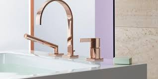 wohnen neuer luxus im badezimmer armaturen in gold und
