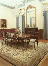 The Traditional Decor And Furniture In This Dining Room Are Complemented By Oriental Rug Handknotted China