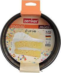 zenker springform ø 18 cm special mini kleine backform mit flachboden aus stahlblech runde kuchenform mit antihaftbeschichtung farbe schwarz