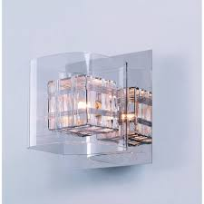 impex avignon chrome with clear glass wall light at leader stores