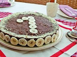 schoko bananentorte zum 1 geburtstag rohvegan glutenfrei