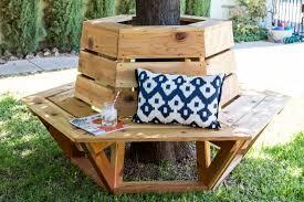 how to build a hexagon cedar bench cedar bench shady tree and