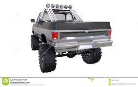 Large Pickup Truck Off-road. Full - Training. Highly Raised ...