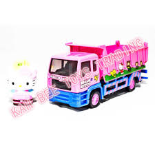 Sanrio Hello Kitty Die-Cast 6 Inch Dump Truck Pink Genuine Product ...