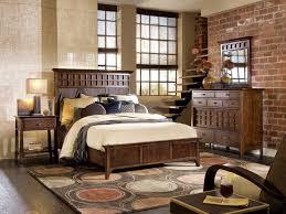 InteriorComfortable Rustic Bedroom Decor With Unique Rug Color And Brick Stone Wall Idea Modern