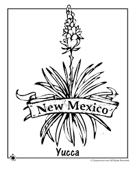 State Flower Coloring Pages New Mexico