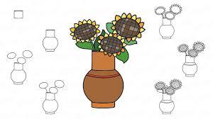 Ensemble Déléments De Doodle Pour Dessin Ou De Coloriage Vase Avec