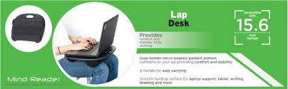 Padded Lap Desk With Light by Amazon Com Mind Reader Portable Laptop Lap Desk With Handle