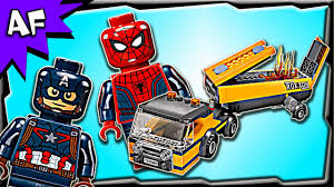 Lego Civil War SPIDERMAN Tanker Truck Takedown 76067 Stop Motion ...