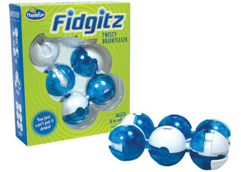 ThinkFun Fidgitz Twisty Brainteaser - Blue & White