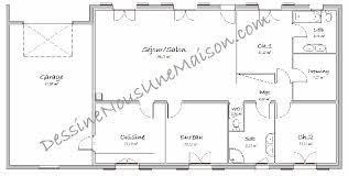 plan de maison de plain pied 3 chambres maison plain pied 3 chambres 75m2