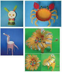 Paper Cup Animals Vintage