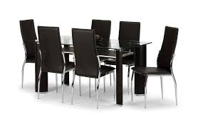 Dining Room Chairs Set Of 6 by Chair Round Black Glass Dining Table 4 Chairs Starrkingschool 6