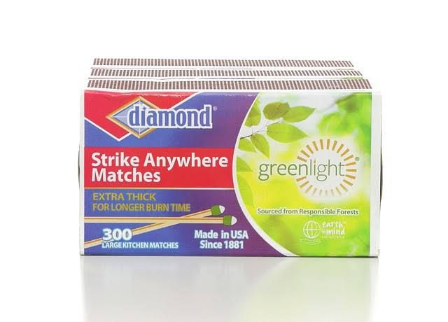 Diamond Strike Anywhere Matches - x300, X-Large