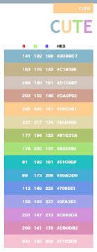Cute Color Scheme Web Colors