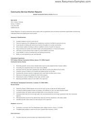 Resume Examples For Community Service Packed With Accounting Accounts