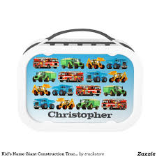 100 Construction Trucks Names Kids Name Giant Truck Pattern Lunch Box