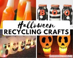Recycled Newspaper Crafts For Kids Inspirational Go Greenquot Halloween 17 Recycling