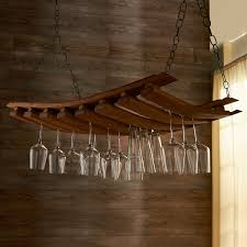 Under Cabinet Stemware Rack by Furniture Chic Wall Mounted Reclaimed Wood Wine Glass Rack With
