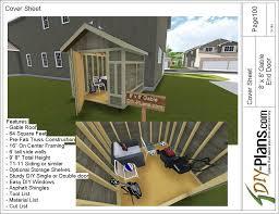 8x8 gable tool shed plan