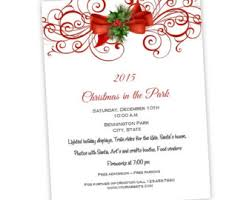 Christmas Cubicle Decorating Contest Flyer by Christmas Invitation Flyer Holiday Party Flyer 8 5 X 11